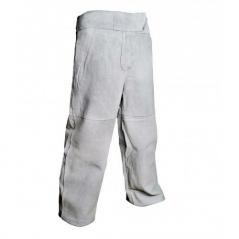 Pantalon De Descarne Con Bolsillos Y Cintura Elastizada.