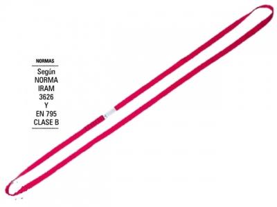Conector De Anclaje Circular. Rojo, 25mm X 1,5mts