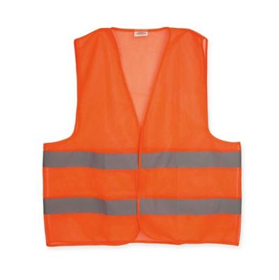 Chaleco Poliester Pesado Naranja 90gr Con Reflectivo