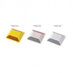 Tacha Vial Amarilla Rayolite Tvmx 10x10cms Con Reflectivo. Conoflex