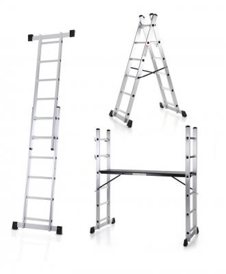 Escalera Andamio Aluminio 6 Esc. Por Lado Pronor