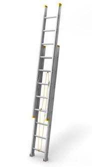 Escalera Extensible Aluminio 12+12. 7,2metros