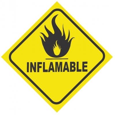 Cartel Linea Atención Inflamable