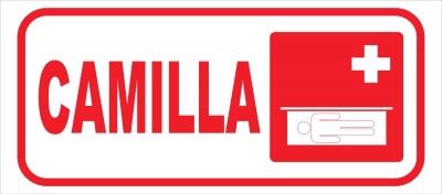 Cartel Linea Información Camilla