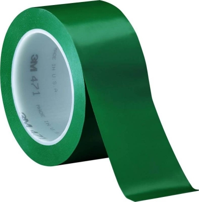 Cinta De Vinilo Demarcatoria Para Pisos 3m 471 Verde 50mm X 30mts
