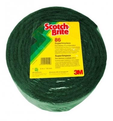 Paño Extrafuerte 3m 55943 Cod.86 Verde En Rollo De 16cm X 20mts.