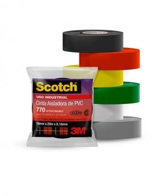 Rollo Cinta Aisladora Scotch 770 Gris - 19mmx10m 56467