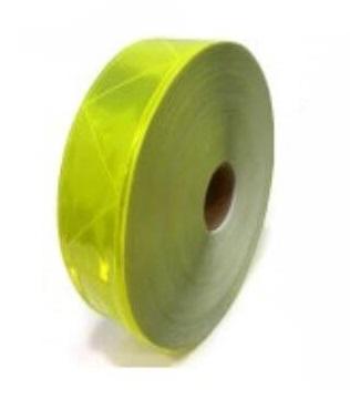 Cinta Reflectiva Plastica Para Coser Triangulos Amarilla 5cmxmt Cd-6415a
