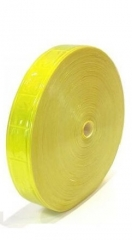 Cinta Reflectiva Para Coser Cuadrados Amarilla 2,5cmxmt. Cd-72181