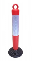 Poste Demarcatorio 80cm Rojo