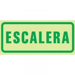 Cartel Linea Fotoluminiscente Escalera  300x100