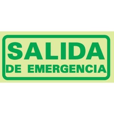 Cartel Linea Fotoluminiscente Salida De Emergencia 140x410