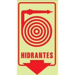 Cartel Linea Fotoluminiscente Hidrantes 200x300