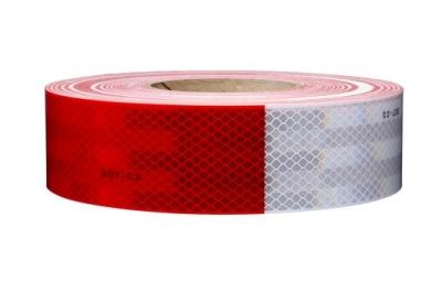 Cinta Reflectiva Vehicular Homologada 3m Arg983-32 Roja Y Blanca 5cm X Metro