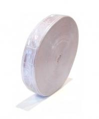 Cinta Reflectiva Plastica Para Coser Cuadrados Blanca 2,5cmxmt Cd-65625b
