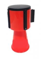 Dispositivo Retractil Para Conos Con Cinta 3,3 Mts Roja Y Blanca Cd-7241rb