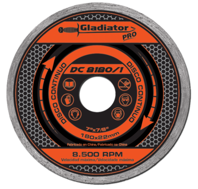 Disco De Widia Gladiator 115 Mm Continuo   Gladiator