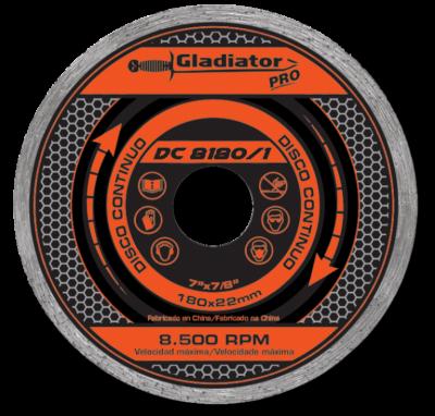 Disco De Widia Gladiator 180 Mm Continuo