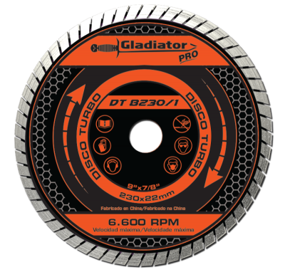 Disco De Widia Gladiator 230 Mm Turbo