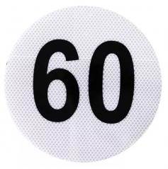 Circulo MÁxima Velocidad 60 Reflecivo Iram 3952