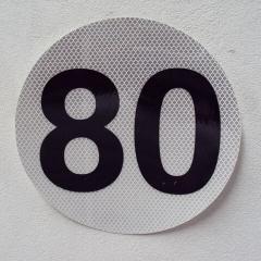 Circulo MÁxima Velocidad 80 Reflecivo Iram 3952