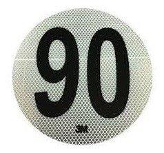 Circulo MÁxima Velocidad 90 Reflecivo Iram 3952