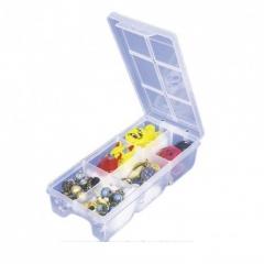 Organizador Plastico Horizontal 6 Divisiones 85x195x45 Mm Ut117