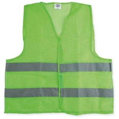 Chaleco Poliester Pesado Verde 90gr Con Reflectivo