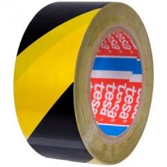 Cinta Demarcatoria Tesa Amarilla Y Negra 50mm X 30 Mt
