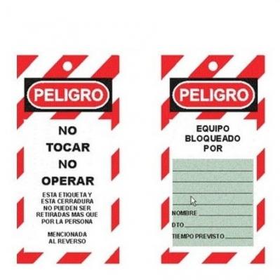 Tarjeta No Tocar-no Operar De Bloqueo Cartulina 1016119