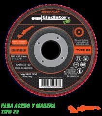 Disco Flap Ox. Aluminio 180mm, Grano 120 Gladiator