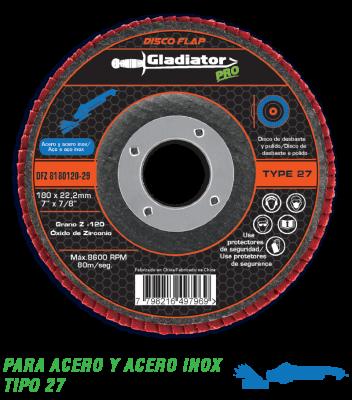 Disco Flap Zirconio Gladiator 180 Mm Gr 80 Gladiator
