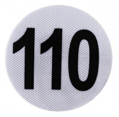 Circulo MÁxima Velocidad 110 Reflecivo Iram 3952