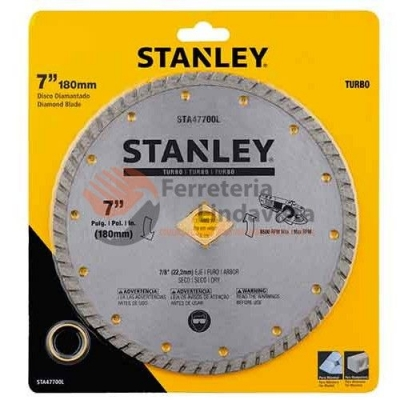 Disco De Widia Stanley 180 Mm Turbo Stanley Sta47700l