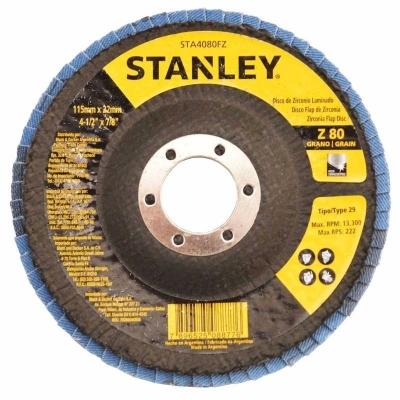 Disco Flap Zirconio 180 Mm # 120 Concavo Stanley Sta7120fz