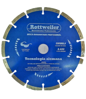 Disco De Widia Segmentado Rottweiler 180 Mm