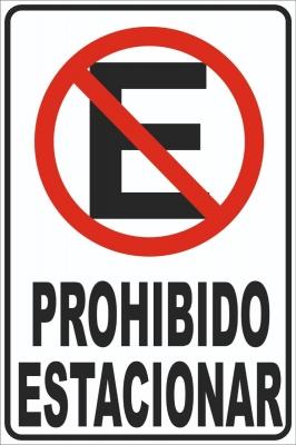 Cartel Linea Autoadhesivos Prohibido Estacionar  100x150