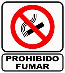 Cartel Linea Autoadhesivos Prohibido Fumar