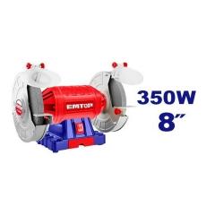 Amoladora De Banco 8pulg 350w C/acc 220v Emtop Ebgr83501