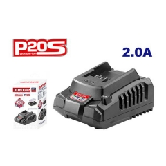 Cargador 20v P/bat 2 Y 4 Amp Emtop Efcr20200-4