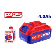 Bateria 20v 4amp Lithium-ion Emtop Ebpk2002