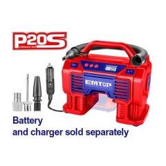 Compresor 160psi P/auto 12v O Bat 20v (no Incl) Emtop Elac2002