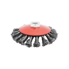 Cepillo Circular Trenzado Conico 115mm Nazka