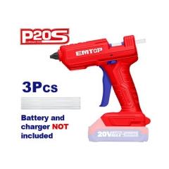 Pistola Hot-mel 11,2mm S/bat Ni Carg Emtop Elgg2002