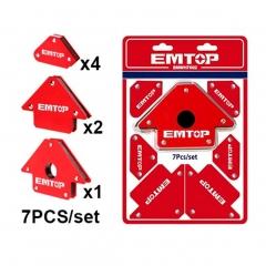 Juego De Escuadras Magneticas 7 Pz Emtop Emwh7002