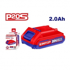 Bateria 20v 2amp Lithium-ion Emtop Ebpk20011