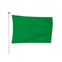 Bandera Verde De 50 X 70 Con Tiras Para Atar