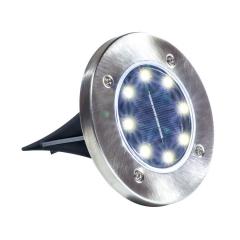 Lámpara De Tierra Solar De 8 Led Para Jardín Etheos Esle002