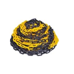 Cadena Plástica Negra Y Amarilla X 25 Mt Kushiro