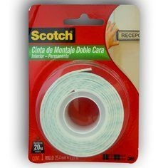 Cinta De Montaje Scotch Doble Faz Interior Permanente 12,7mm X 19mts